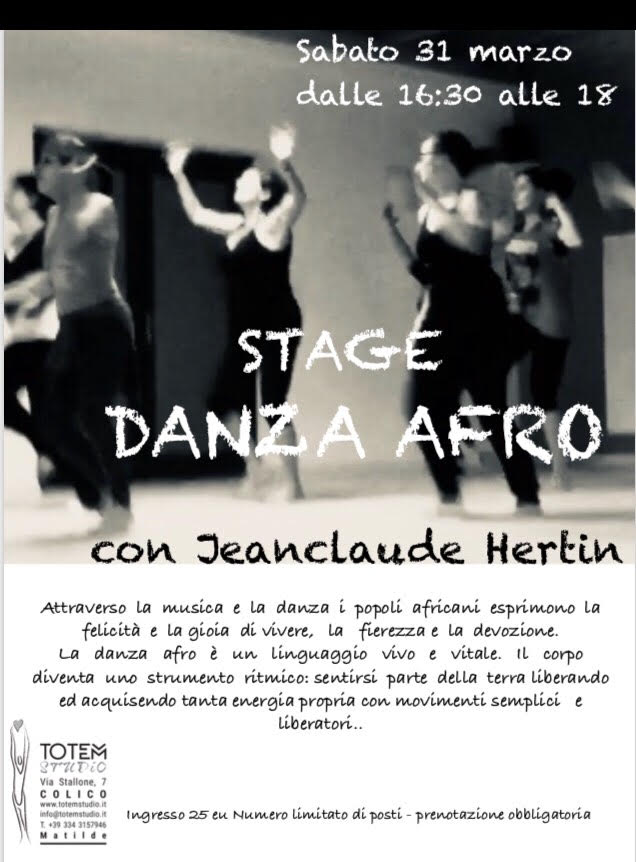 stage danza afro Totem Studio