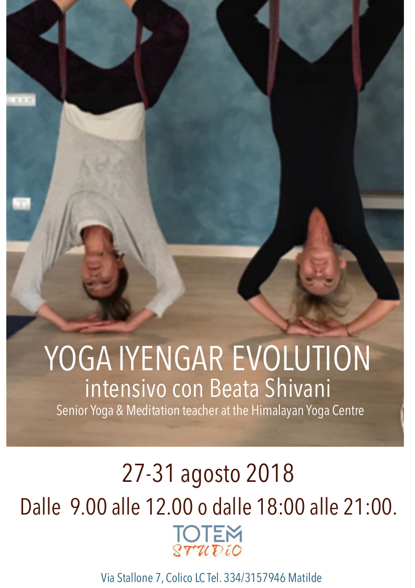 Yoga iyengar Evolution ago 2018 Totem Studio